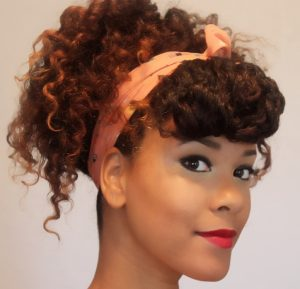 Twist Out Scarf Updo natural hairstyles