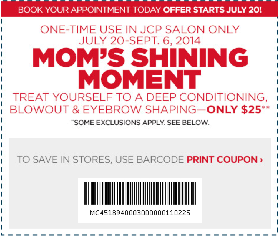 Jcpenney salon prices coupons