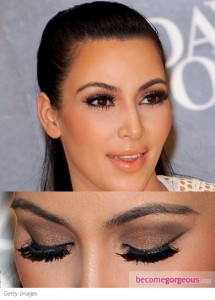 kim-kardashian-brown-smokey-eyes-becomegorgeous