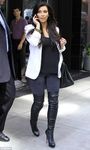 Fashion Shoes for 2015 Be Chic and Trendy thigh high boots kim kardashian