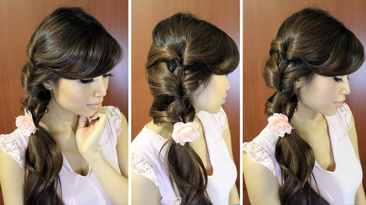 an easy to braid ponytail