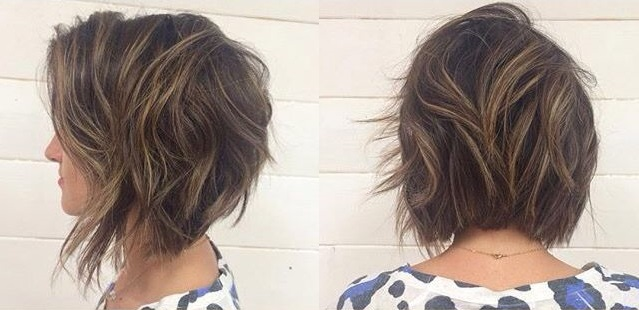 a woman with an a-line bob hairstyle