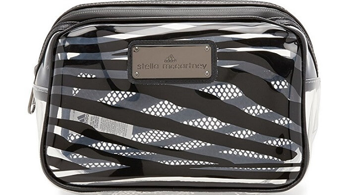 an Adidas sporty cosmetic bag