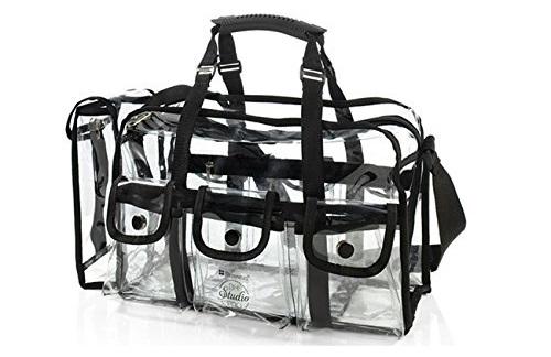 a large transparent cosmetic bag