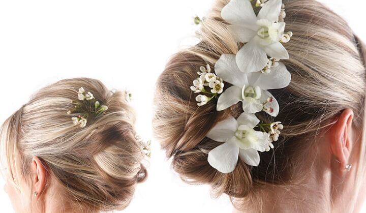 a bridal French twist formal hairstyle