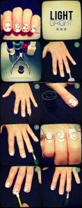 light easy nail art designs