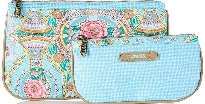 a flower-patterned makeup bag