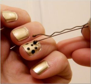 easy nail art designs polka dot