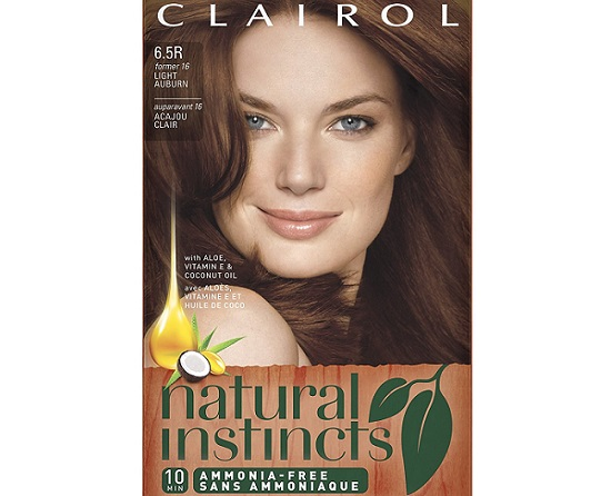 a package of Clairol Natural Instincts color changing hair dye