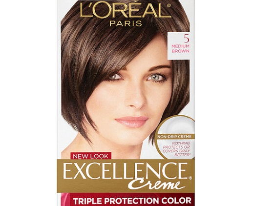 the front part of a L'Oreal Paris hair dye package