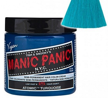 a jar of Manic Panic hair dye