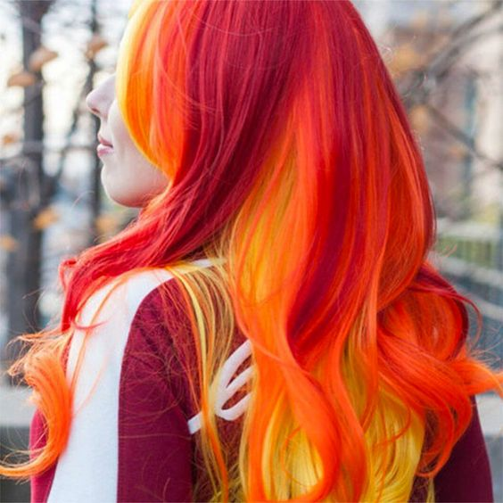 36 Hair Color Ideas That Are Totally Trending On Pinterest - sunset or fire colored hair