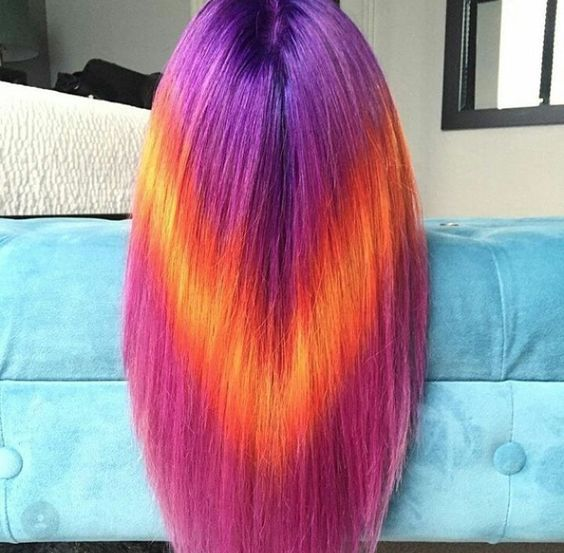 36 Hair Color Ideas That Are Totally Trending On Pinterest - geometric hair dying