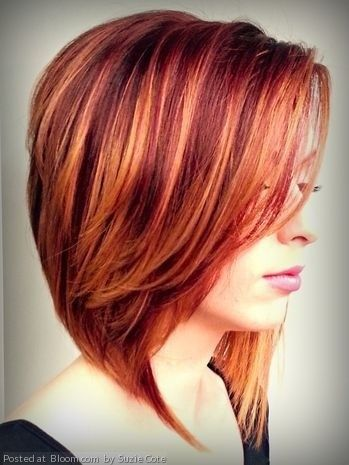 36 Hair Color Ideas That Are Totally Trending On Pinterest - red lowlights colored hair