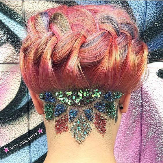 36 Hair Color Ideas That Are Totally Trending On Pinterest - glitter rainbow hair