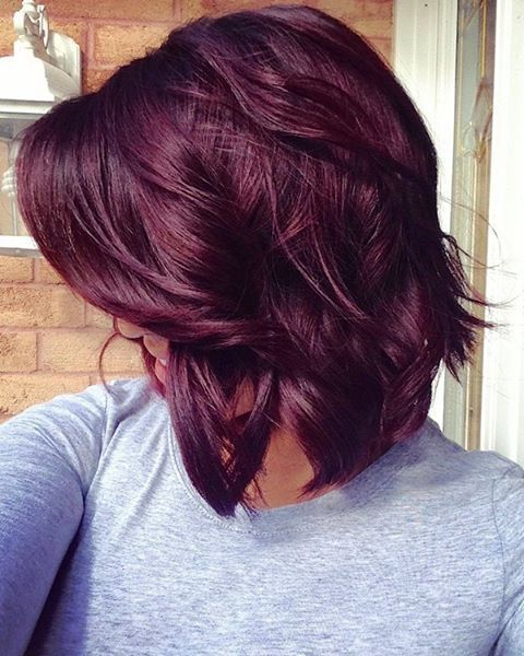36 Hair Color Ideas That Are Totally Trending On Pinterest - deep red wine hair colored