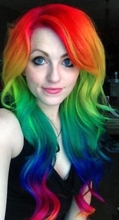 36 Hair Color Ideas That Are Totally Trending On Pinterest - rainbow colored hair