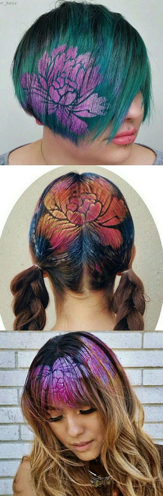 36 Hair Color Ideas That Are Totally Trending On Pinterest - hair stenciling
