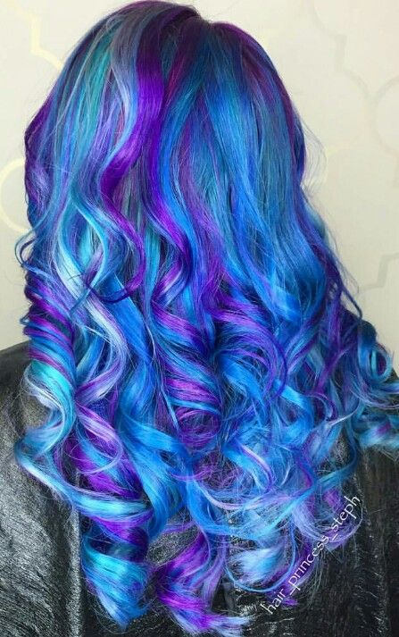 36 Hair Color Ideas That Are Totally Trending On Pinterest - blue mermaid colored hair