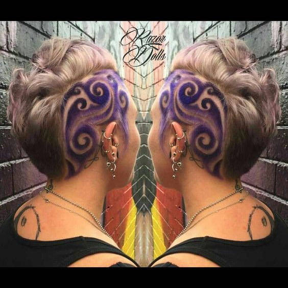 36 Hair Color Ideas That Are Totally Trending On Pinterest - purple colored swirls hair