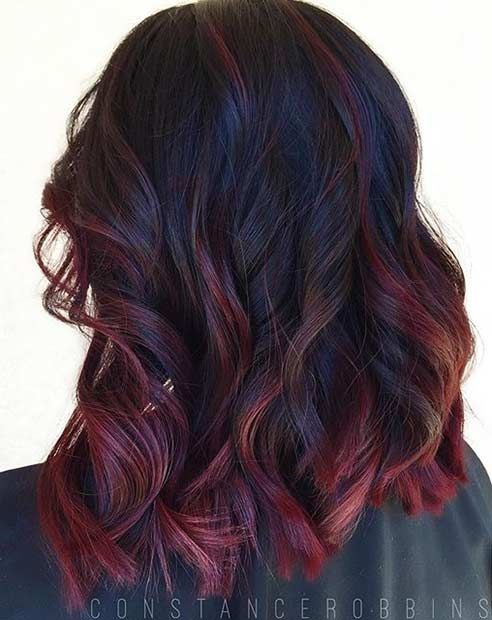 36 Hair Color Ideas That Are Totally Trending On Pinterest - brown to Burgundy ombre