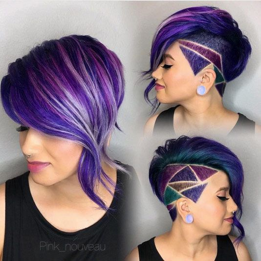 36 Hair Color Ideas That Are Totally Trending On Pinterest - geometric coloring hair