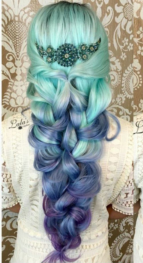 36 Hair Color Ideas That Are Totally Trending On Pinterest - blue ombre hair
