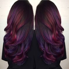 36 Hair Color Ideas That Are Totally Trending On Pinterest - purple and pink undertones hair