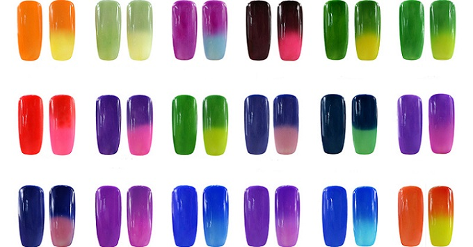 plenty of color changing nail polish samples