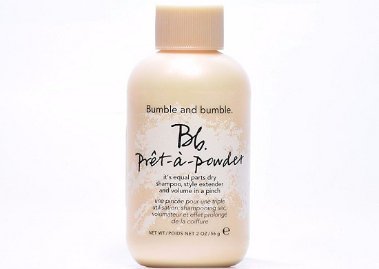 a cute small pink bottle of Bumble and bumble dry shampoo