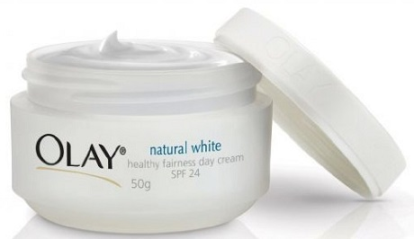 the Olay natural whitening cream container