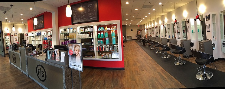the interior of a Fantastic Sams salon