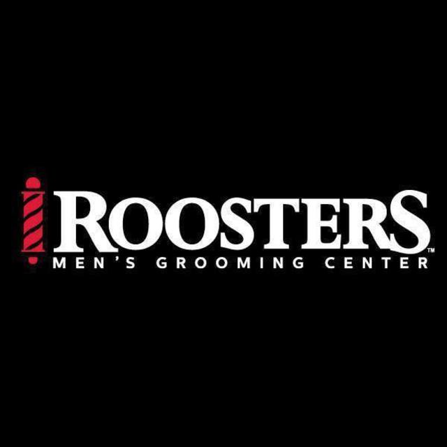 roosters men's grooming salon logo