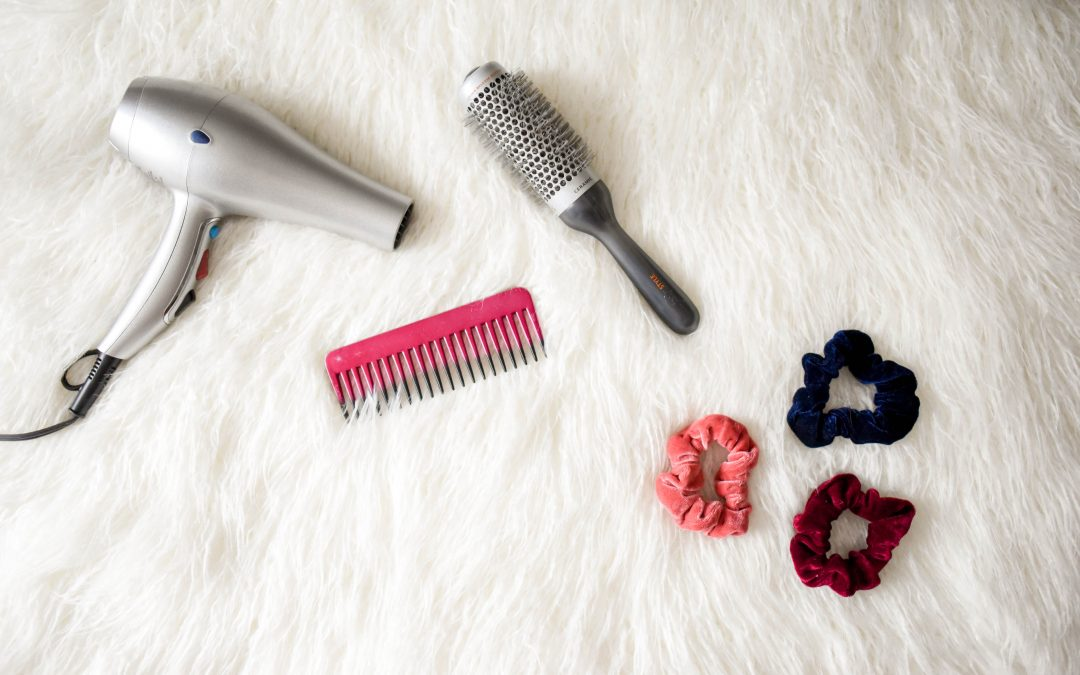 blow dryer and hair accessories